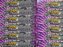 NJ γρατσουνιά από τα εισιτήρια λαχειοφόρων αγορών, ΗΠΑ Ð « Στοκ Εικόνα