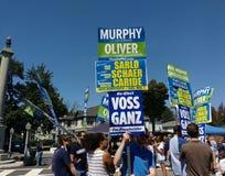 NJ Demokraten an der Werktags-Straße angemessen, Rutherford, NJ, USA Lizenzfreies Stockbild