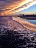 NJ-solnedgång Royaltyfri Bild