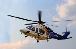 NJ State Trooper Helicopter. Participates at the annual community event Royalty Free Stock Photos