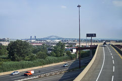 On the NJ Turnpike Royalty Free Stock Photography