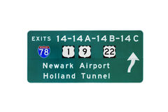 NJ turnpike sign Royalty Free Stock Photo