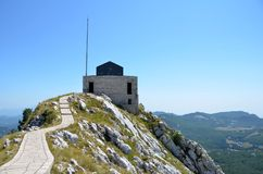 Njegos Mausoleum. At the top of Mt Lovcen Royalty Free Stock Image