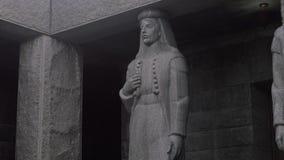 Njegos mausoleum sculpture stock video footage