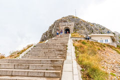 Njegos mausoleum stairs and tunnel Stock Images