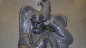 Njegos statue Lovcen stock video