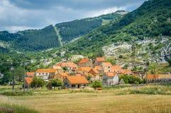 Njegusi historical village in Montenegro Stock Photo