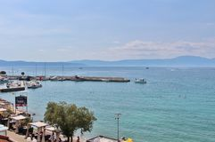 Njivice,克罗地亚 免版税库存照片