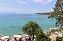 Njivice, Хорватия Стоковое фото RF
