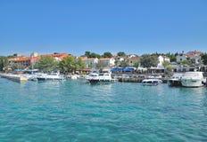 Njivice, Krk, adriatisches Meer, Kroatien Stockbild