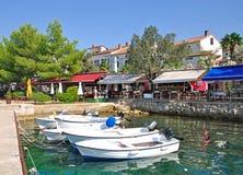 Njivice, Krk Insel, Kroatien Stockbild