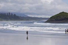 Njoying un il giorno di estate dal Pacifico Settentrionale alla roccia dell'inceneritore Rim National Park pacifico Fotografia Stock
