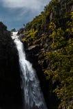 Njupeskar vattenfall i nordvästliga Sverige royaltyfri fotografi
