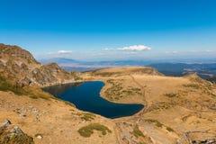 Njure sjön är en av de sju Rila sjöarna Rila berg, Royaltyfria Foton