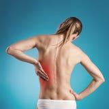 Njure smärtar royaltyfria foton