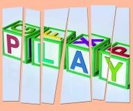 Njutning och lekar för lekbokstavsshow rolig royaltyfri illustrationer