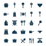 Kitchen Utensils Isolated Vector Icon set can be easily modified or edit vector illustration