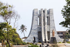 Nkrumah Memorial Park, Accra, Ghana. Nkrumah Memorial Park - First president of independent Ghana, West Africa Stock Photography