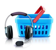 Nline shopping support concept Royalty Free Stock Image