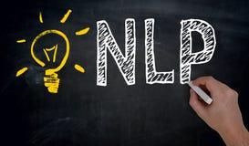 NLP is written by hand on blackboard