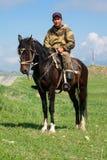 Nómada con su caballo Imágenes de archivo libres de regalías