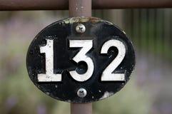Número 132 Foto de archivo
