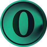 Número botón-nulo Fotografía de archivo