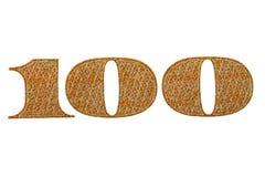 Número 100 cem notas de dólar Imagens de Stock