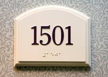 Número de la puerta Fotografía de archivo libre de regalías