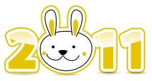 Número del calendario con el conejo Imágenes de archivo libres de regalías