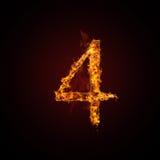 Número del fuego Imagenes de archivo