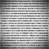 Número del pi Imágenes de archivo libres de regalías