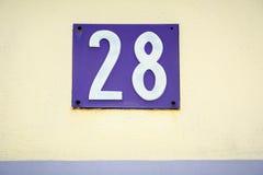 Número veintiocho Imágenes de archivo libres de regalías