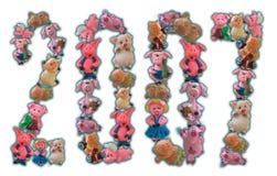 Números 2007 de cerdos Imagen de archivo libre de regalías