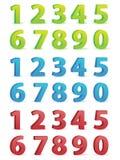 números 3D fijados Foto de archivo libre de regalías