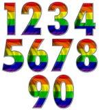 Números alegres da bandeira do arco-íris Foto de Stock Royalty Free
