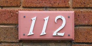 Números de casa Foto de archivo libre de regalías