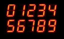 Números de Digitas Foto de Stock Royalty Free