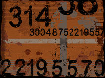 Números de Grunge Foto de Stock