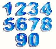 Números de la gota del agua Imagen de archivo libre de regalías