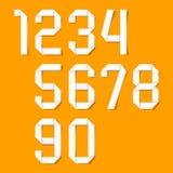 Números de Origami fijados Foto de archivo libre de regalías