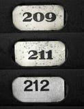 Números de placa Imagen de archivo