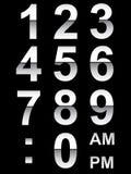 Números de reloj Fotografía de archivo libre de regalías