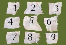 Números del papel de gráfico Fotografía de archivo