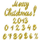 Números do ouro Imagem de Stock Royalty Free