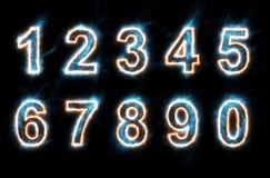Números eléctricos Foto de archivo libre de regalías