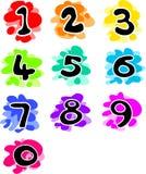 Números Funky Imagens de Stock Royalty Free