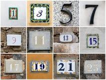 Números impares Foto de Stock Royalty Free