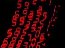 Números moventes vermelhos Imagens de Stock