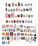 Números y símbolos del periódico Imagen de archivo libre de regalías